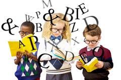 Составное изображение детей школы Стоковое фото RF
