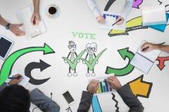 Составное изображение деловой встречи Стоковое Изображение