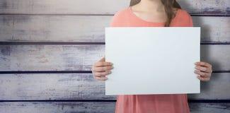 Составное изображение женщин держа пустой плакат Стоковые Фото