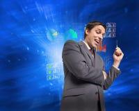 Составное изображение заботливой ручки удерживания бизнесмена Стоковые Изображения