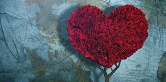 Составное изображение завода сердца влюбленности Стоковые Изображения RF