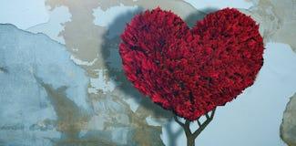 Составное изображение завода сердца влюбленности Стоковое фото RF