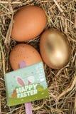 Составное изображение знака охоты пасхального яйца Стоковая Фотография RF