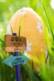 Составное изображение знака охоты пасхального яйца Стоковое Изображение RF