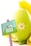 Составное изображение знака охоты пасхального яйца Стоковое Изображение