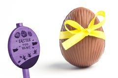 Составное изображение знака охоты пасхального яйца Стоковые Изображения RF