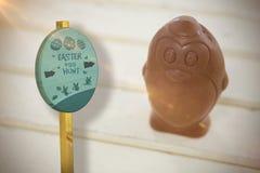 Составное изображение знака охоты пасхального яйца Стоковые Фото