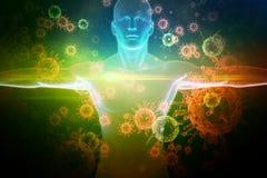 Составное изображение изображения белого тела Стоковая Фотография