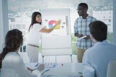 Составное изображение интерфейса глобального бизнеса стоковая фотография rf