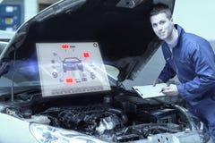 Составное изображение интерфейса инженерства стоковые изображения rf