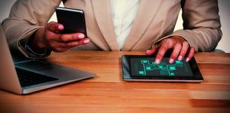Составное изображение интерфейса технологии Стоковые Фото