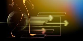 Составное изображение интерфейса иллюстрация вектора