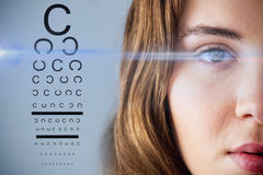 Составное изображение испытания глаза Стоковое фото RF