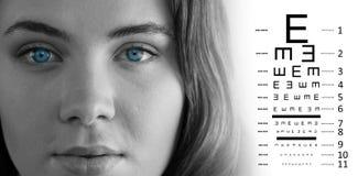 Составное изображение испытания глаза Стоковые Фотографии RF