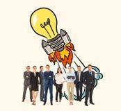 Составное изображение команды дела стоковые изображения