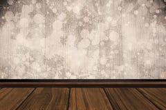 Составное изображение конца-вверх деревянного настила Стоковое Изображение RF