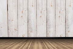 Составное изображение конца-вверх деревянного настила Стоковое Фото