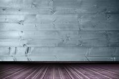 Составное изображение конца-вверх деревянного настила Стоковые Изображения