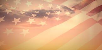 Составное изображение конца вверх мы флаг Стоковое фото RF