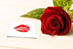 Составное изображение конца крайности вверх на шикарных красных губах Стоковая Фотография RF
