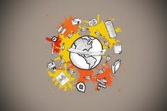 Составное изображение концепции toursim на краске брызгает Стоковое Фото