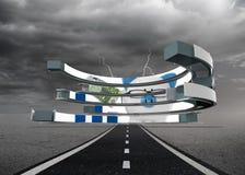 Составное изображение копилки на абстрактном экране Стоковое Изображение RF