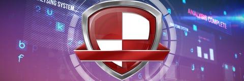 Составное изображение красного и белого расквартировывая символа Стоковое фото RF