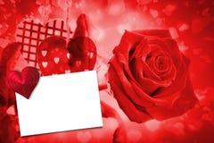 Составное изображение красного сердца влюбленности Стоковые Фотографии RF