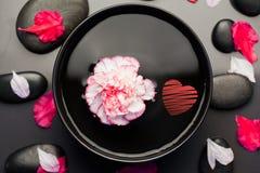 Составное изображение красного сердца Стоковые Фото