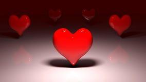 Составное изображение красных сердец влюбленности Стоковые Изображения RF