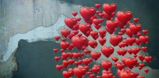 Составное изображение круга сделанное нескольких сердце Стоковые Изображения