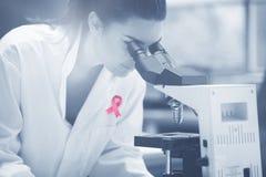 Составное изображение ленты осведомленности рака молочной железы стоковое изображение rf