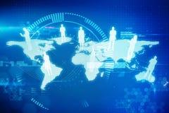 Составное изображение международного сообщества 3d иллюстрация вектора