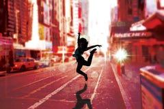 Составное изображение милого танцора пролома Стоковые Изображения RF