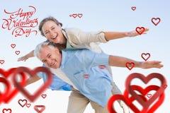 Составное изображение милых пар валентинок Стоковые Фотографии RF