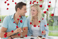 Составное изображение милых пар валентинок Стоковые Фото