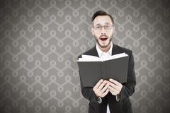 Составное изображение молодого чтения проповедника от библии Стоковое фото RF