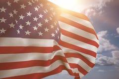 Составное изображение нас флаг Стоковое Фото