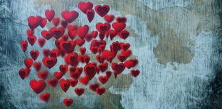Составное изображение нескольких сердце на белой предпосылке Стоковые Фотографии RF