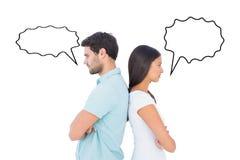 Составное изображение несчастных пар не говоря друг к другу Стоковые Фотографии RF