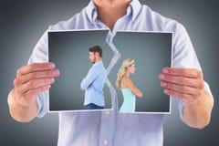Составное изображение несчастных пар не говоря друг к другу Стоковое Изображение