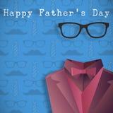 Составное изображение дня отцов слова счастливого Стоковое Изображение RF