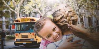 Составное изображение обнимать матери и дочери Стоковые Фотографии RF