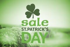 Составное изображение объявления продажи дня patricks st Стоковое фото RF