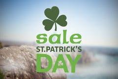 Составное изображение объявления продажи дня patricks st Стоковые Изображения RF