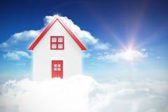 Составное изображение дома 3d Стоковые Фотографии RF