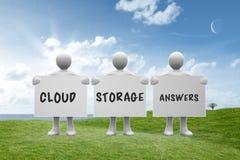 Составное изображение ответов хранения облака Стоковые Фотографии RF