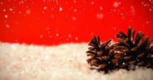 Составное изображение падать снега Стоковое Изображение