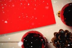 Составное изображение падать снега Стоковые Изображения