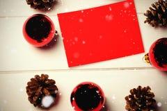 Составное изображение падать снега Стоковая Фотография RF